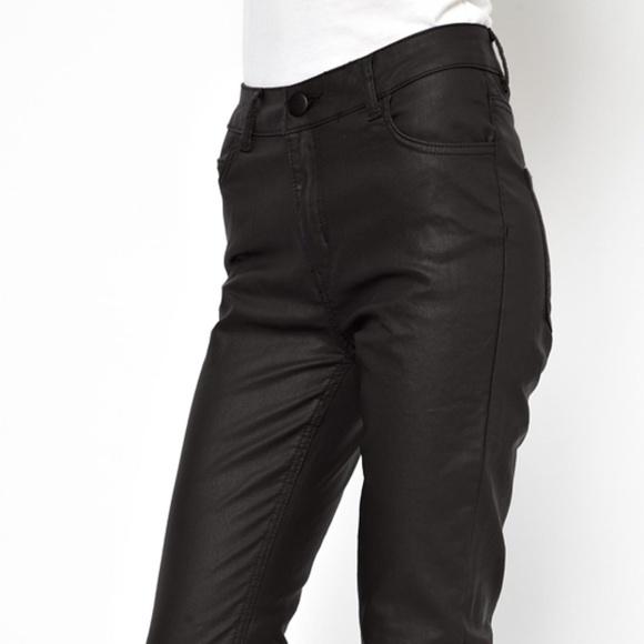 Just Female Denim - Just Female Stroke High Waist Coated Skinny Jeans